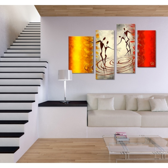 african dance canvas painting artwall and co. Black Bedroom Furniture Sets. Home Design Ideas