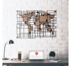 Mondrian World Map Metal Decoration
