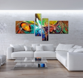 Fireworks Modern Abstract Painting