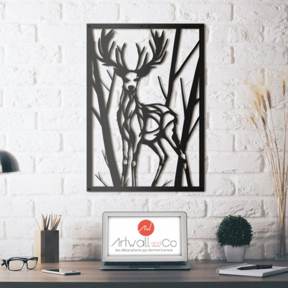 Wild Deer Metal Wall Decoration Artwall And Co