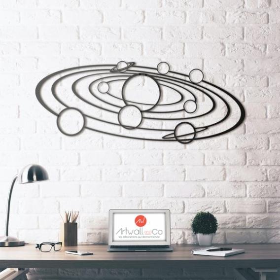Décoration Murale Métal Galaxie