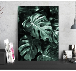 Monstera Foil Aluminium Wall Decoration