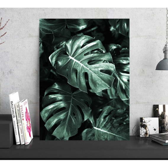 Photo d'Art Aluminium Feuille Monstera
