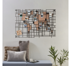 Mondrian World Map Metal Decoration