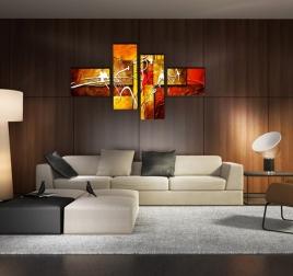 tableau peinture abstraite moderne et contemporaine artwall and co. Black Bedroom Furniture Sets. Home Design Ideas