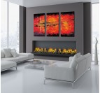 Lava Tableau Peinture Triptyque