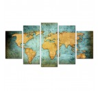 Tableau xxl carte du monde