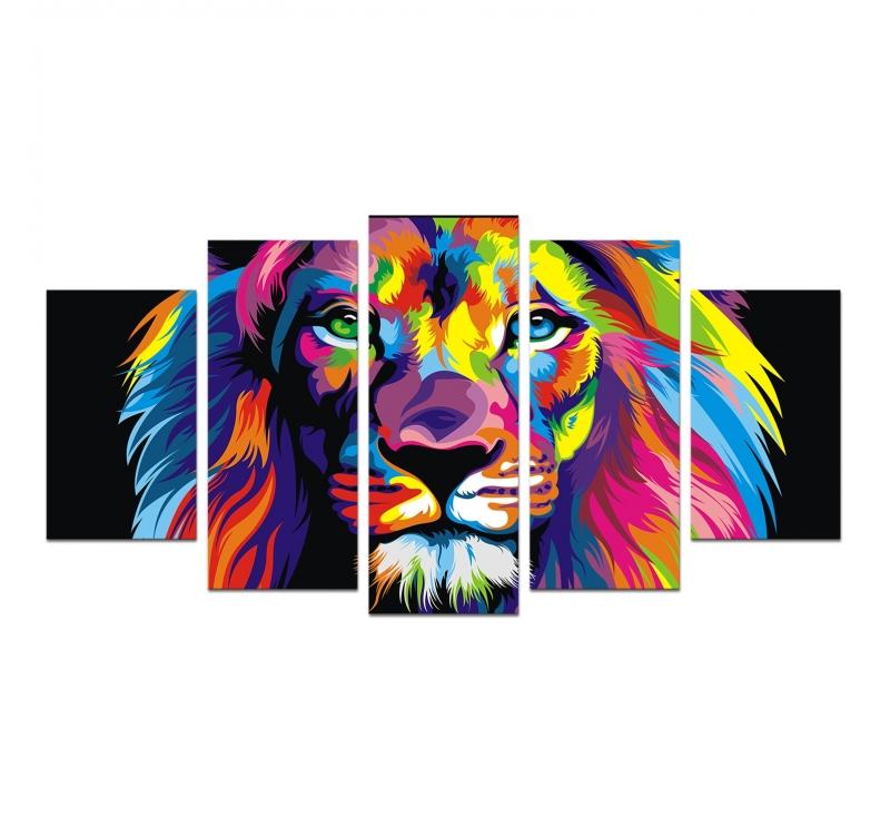 Large Pop Art Lion Canvas Artwall And Co
