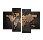 Tableau Multiple Map monde Design