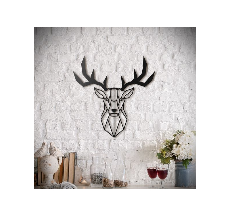 Stag Head Metal Decoration - ArtWall and Co