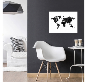 World Map Aluminium Frame