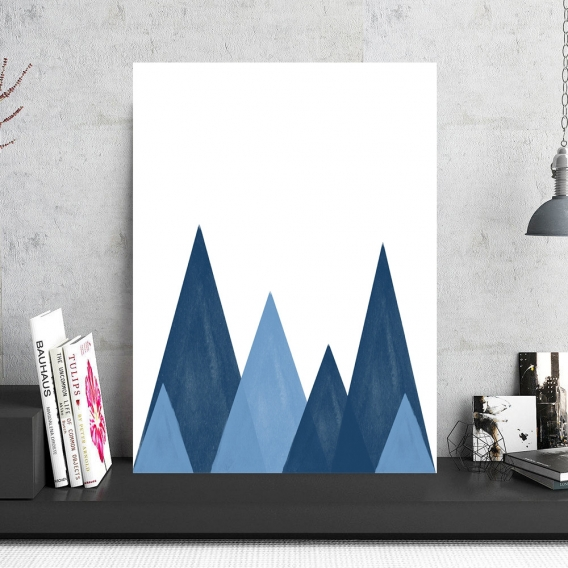 Scandinavian Mountain Art Photo