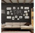 Décoration Murale Métal Carte du Monde Blanche