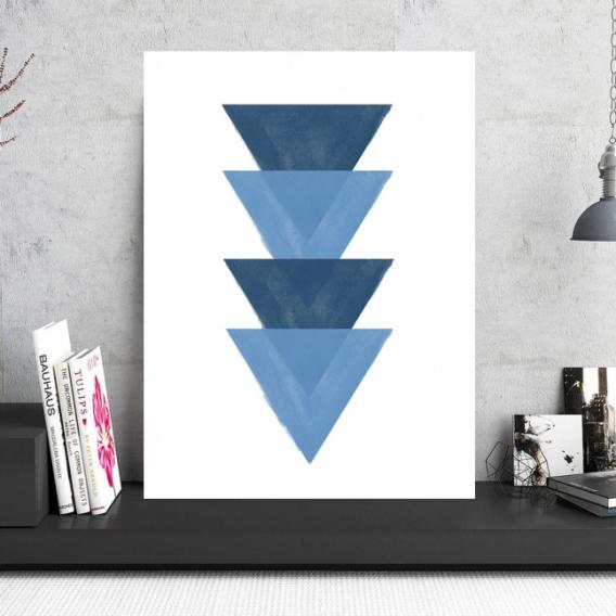 Tableau Aluminium Abstrait Triangle