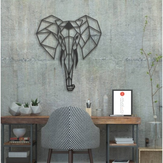 Decoration Murale Metal Elephant
