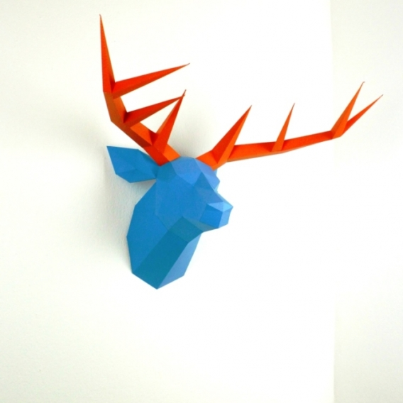Paper Deer Wall Trophies