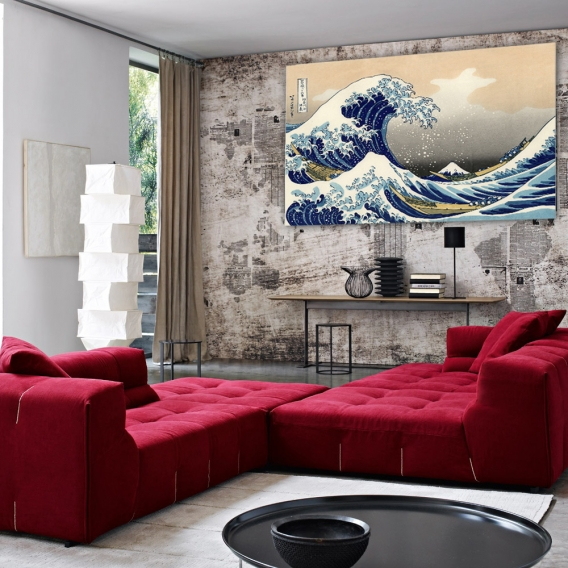 Kanagawa's Wave Design Canvas