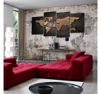 World Map Vintage Canvas