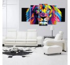 Grand Tableau pop art lion