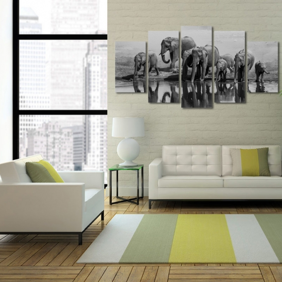 Elephant Animal Multiple Canvas