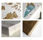 Emballage de la carte du monde deco murale bois