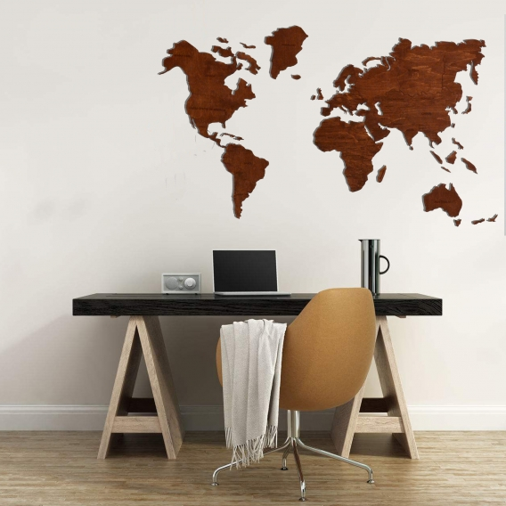 Map Wooden Wall Decoration