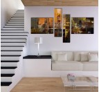 Abstract City Modern Painting