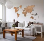 World Map Wood Decoration