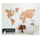 World Map Wood Decoration