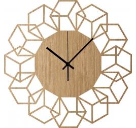 Horloge Murale Bois Cubique
