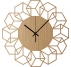 CubeFlower Wood Wall Clock