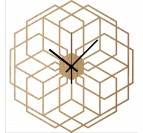 Hexaflower Wood Wall Clock