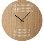 grande horloge murale ribbonwood artwall and co. Black Bedroom Furniture Sets. Home Design Ideas