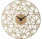 Polygonal Wood Wall Clock