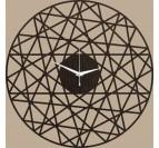 Horloge Murale Bois Polygonal