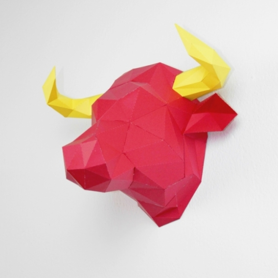 Bull Wall Paper Trophy