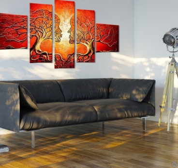 Abstract Kiss Tableau Peinture