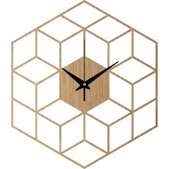 Cubic Wood Wall Clock