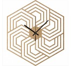 Hexagon Wood Wall Clock