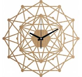 Horloge murale bois kaleidoscope