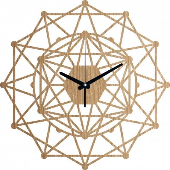 Kaleidoscope Wood Wall Clock