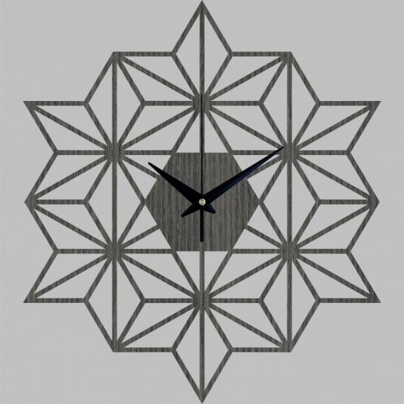 Snowflake Wood Wall Clock