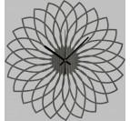 Horloge Murale Bois Spirographe