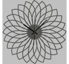 Spirograph Wood Wall Clock