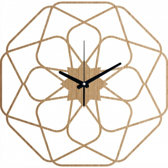 Star Wood Wall Clock