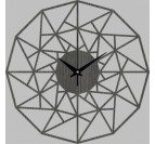 Horloge Murale bois Triangle