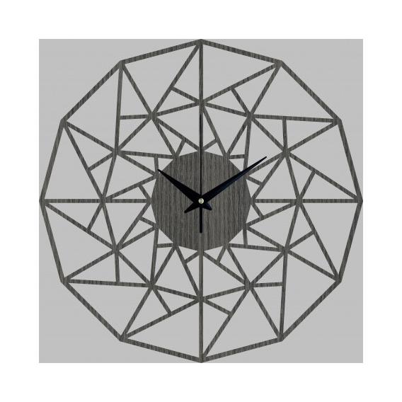 Triangle Wood Wall Clock