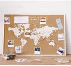 Cork World Map Decoration