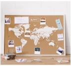 Cork world map with our flag pin pack