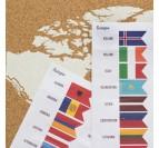 Pack de pins avec les drapeaux du monde pour vos cartes murales